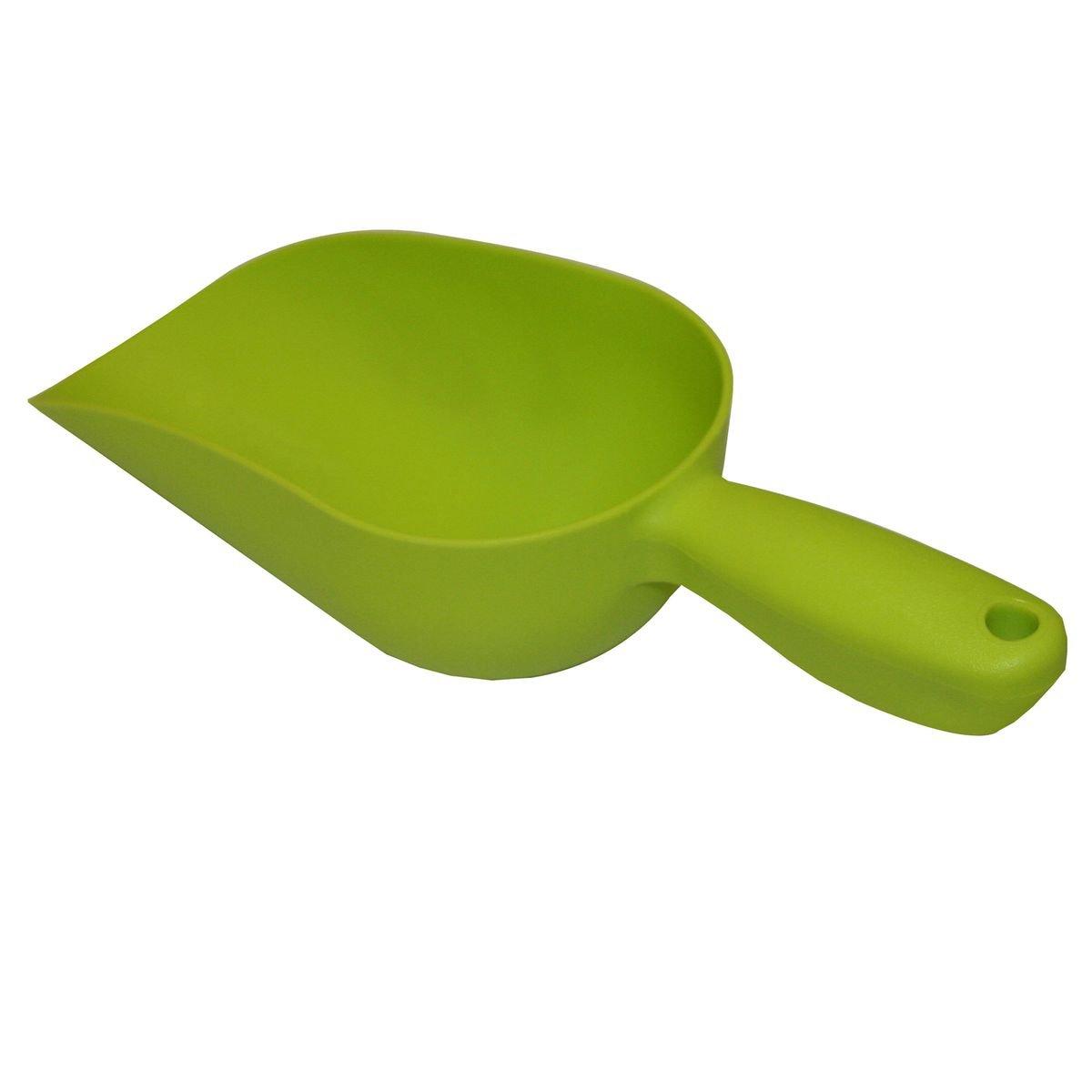 Futterschaufel aus hochwertigem Kunststoff Xclou Sackschaufel in Gr/ün Gartenschaufel mit Griff Handschaufel als Garten-Zubeh/ör und f/ür den Haustier-Bedarf