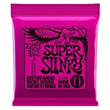 Ernie Ball Super Slinky Electric Guitar Strings - includes 6 free plectrums