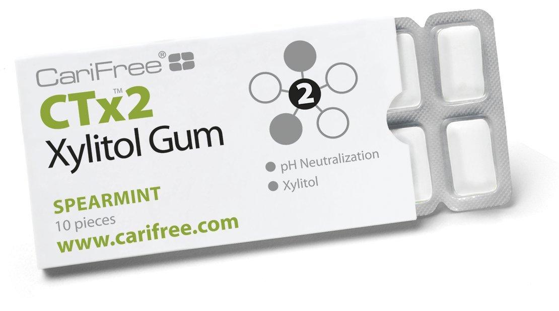 CariFree CTx2 Gum Spearmint (20, 10-piece packs)