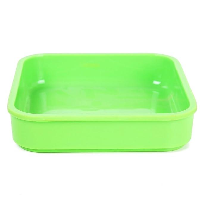Amazon.com: DealMux de formato quadrado placas Segurança Buffet Bandeja Dish placa verde: Kitchen & Dining