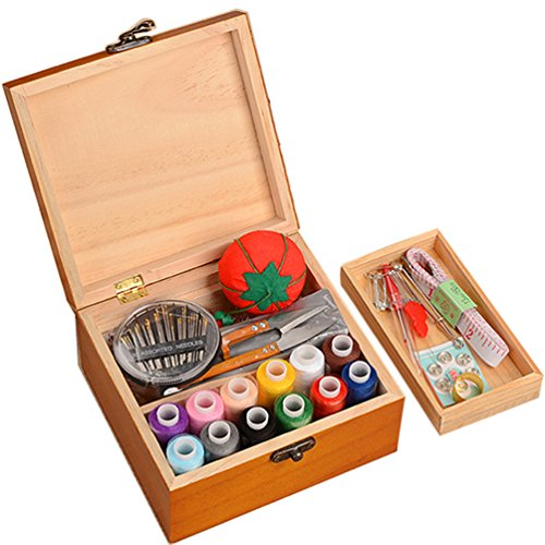sewing box organizer wood - 5