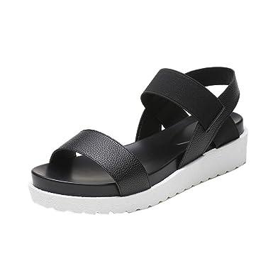 28c3383b973 New!2019 Laides Sandals Sunyastor Women s Summer Sandals Peep-Toe Low Shoes  Roman Sandals
