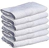 48 PCS NEW WHITE 24X48 100% COTTON ECONOMY BATH TOWELS SUPER ABSORBENT QUICK DRY (4 dozen)