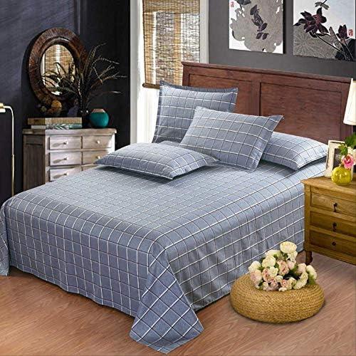 XSHIYQ 100% Coton Stripe Bed Flat Sheet Set Gift Adult Queen King Twin Full Size 3pcs Sheet Set Pillowcase Bedding 140x230cm Colour9