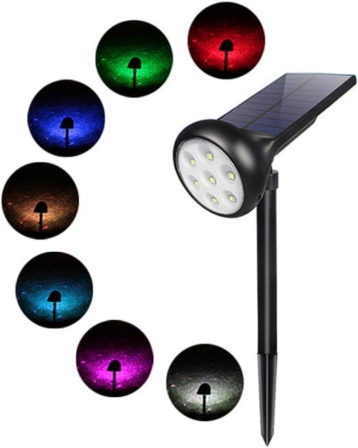 Einsgut – Lámpara LED de jardín, foco de jardín con enchufe, lámpara de jardín con cable, IP65 resistente al agua, foco de césped para exterior: Amazon.es: Hogar