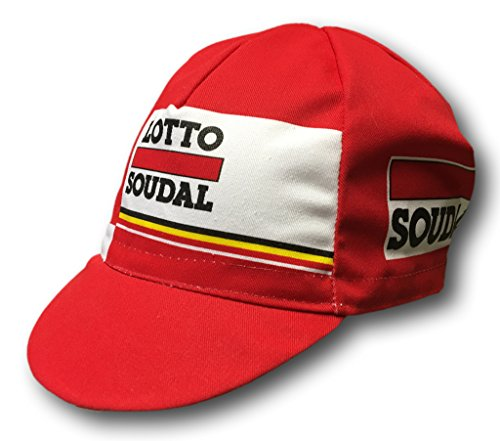 EURO Pro Team Cycling Cap Hat - Made in Italy (Lotto Soudal -