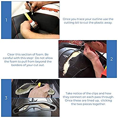 kemimoto utv harness pass-through bezel, Seat Belt Pass Through Bezel Insert for Polaris RZR XP1000 900 S XC General: Automotive