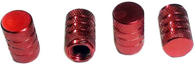 Fliyeong Valve am/éricaine 5 Pcs en Aluminium Tige de Valve Tige Capsules Air Cover Voiture Anti-poussi/ère Bouchon de Pneu pour Voiture Moto