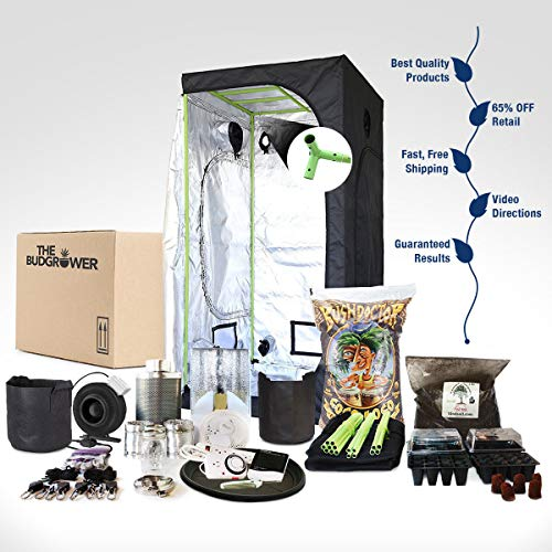 TheBudGrower.com Complete Indoor Grow Kit With Fan, Soil, 24
