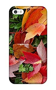 New Premium Flip Case Cover Leaf Skin Case For Iphone 5/5s