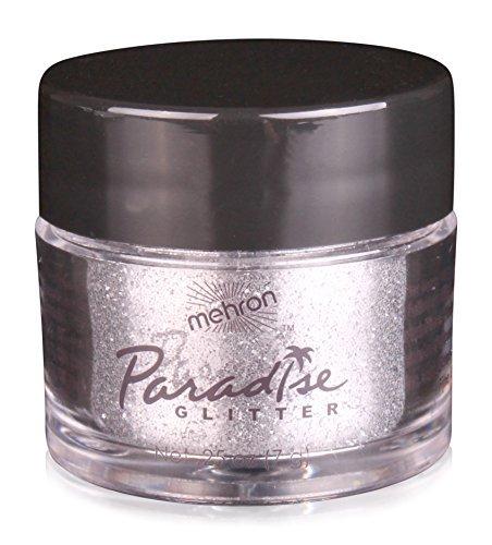 Mehron Glitter - Mehron Makeup Paradise AQ Glitter Face and Body Paint, SILVER - .25 oz