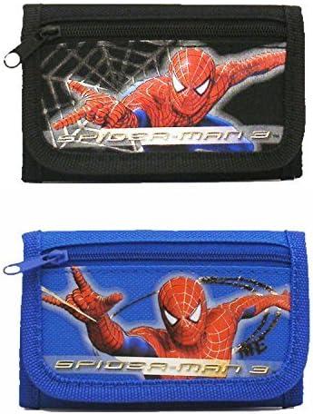 Spiderman Wallet Black Children Boys Girls Wallet Kids Cartoon Coin Purse