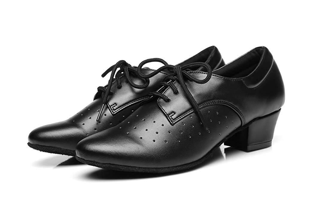 Willsego Frauen Lace-up atmungsaktiv Block niedrigen Ferse Ballroom Latin Latin Latin Dance Schuhe schwarz UK 2 (Farbe   - Größe   -) bf6fac