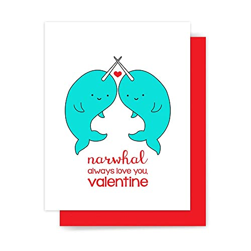 Amazon Com Narwhal Valentine Card Cute Love Pun Handmade Greeting