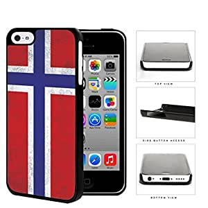 Norwegian Flag Dirty Grunge Hard Plastic Snap On Cell Phone Case Apple iPhone 5c by icecream design