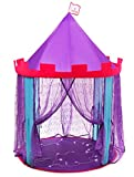 """Dafidaf Princess Castle Play Tent for Girls & Boys + Bonus Fairy Lights – Pink, Purple, & Blue, Indoor & Outdoor Toddlers & Kids Play Tent Toys – Portable, Foldable Kids Playhouse, 39.4x39.4x60.4"""""""