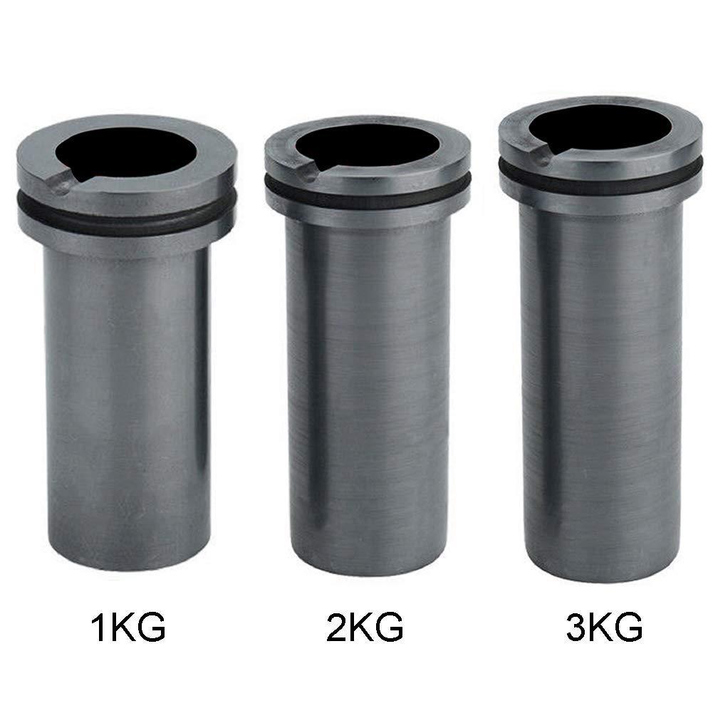 szdc88 Graphit Schmelztiegel,hochreines Schmelzen Graphittiegel Gute W/ärme/übertragungsleistung f/ür Hochtemperatur-Gold und Silbermetallschmelzwerkzeuge