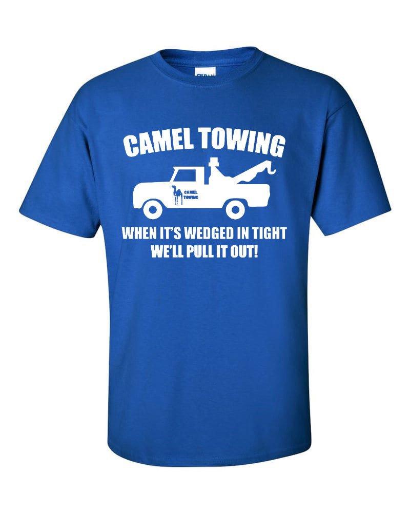 Tees Ya Camel Towing T Shirt Rude Adult Humor Funny T Royal Blue 1985