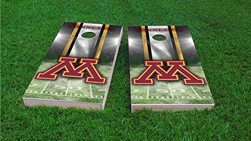 (Tailgate Pro's Minnesota Golden Gophers Home Stadium Cornhole Boards, ACA Corn Hole Set, Comes with 2 Boards and 8 Corn Filled Bags)