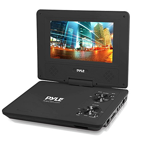 Pyle 9-Inch Portable DVD Player, Portable CD Player, Travel DVD Player, Car DVD Player, Portable...