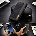 Perkie Iconic Series, Denim & Pu Leather Wallet Flip Case Kick Stand Magnetic Closure Flip Cover for Samsung Galaxy S21…