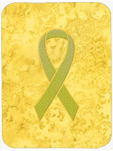 Caroline's Treasures Yellow Ribbon for Sarcoma, Bone or Bladder Cancer Awareness Mouse Pad/Trivet (AN1203MP) (Yellow Ribbon Mouse Pad)
