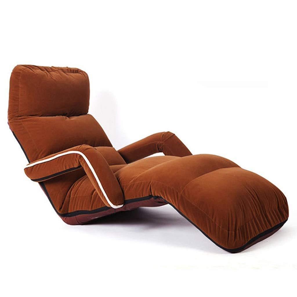 昼寝折りたたみ椅子 多機能怠惰なソファ、シンプルなシングルソファーベッド付きのベッドルームリビングルームのラウンジチェア - バルコニー用読書アームチェア-120KG ポータブル折りたたみチェア B07T4L4KZ7