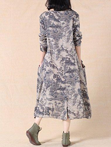 MatchLife - Vestido - para mujer gris