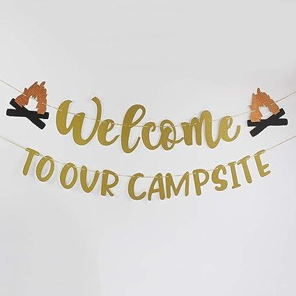 Amazon.com: Cartel de bienvenida a nuestro Campité para ...