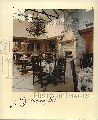 Vintage Photos 1993 Press Photo Inside of Rio Ranch Restaurant in Houston, Texas - hca51533