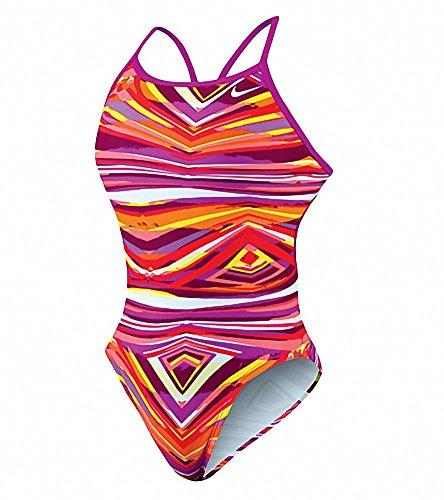 Nike Rio Geo Modern Lingerie Tank Swimsuit 12/38 Purple