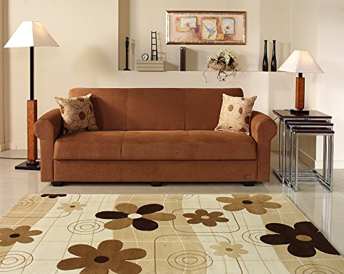 Elita S Rainbow Brown Convertible Sofa Bed by Sunset