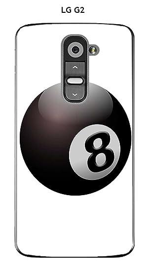 Onozo Carcasa LG G2 diseño Bola de Billar N ° 8 Puerta Felicidad ...