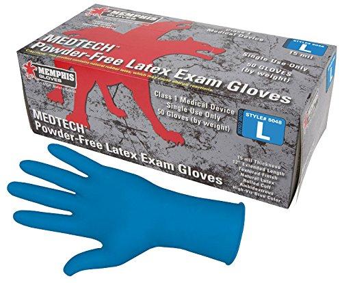 Gloves, L, 12 in. L, Latex, PR, PK50