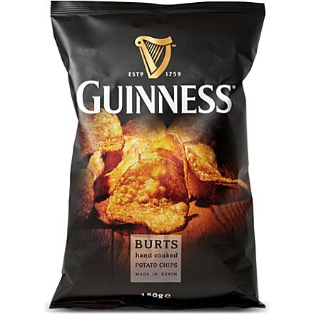 Burt's Guinness Original Thick Cut Potato Chips, 5.3 Ounce