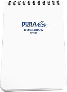 """product image for Rite in the Rain Waterproof (DURARITE) Top-Spiral Notebook, 4"""" x 6"""", White Cover, Universal Pattern (No. 646)"""