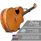 String Swing BCC151LPW-FW 1pc. Horizontal Holder - Low Profile - Black - Flat Wall - Wide Body