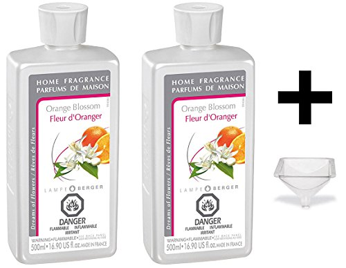 Lampe Berger Fragrance - Orange Blossom - 500ml / 16.9 fl.oz. 2 Pack with Free ()