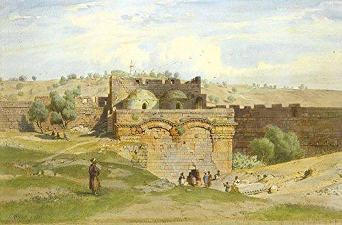 - Wall Art Print Entitled Carl Werner, The Golden GATE, Jerusalem, The Mount by Celestial Images   48 x 32