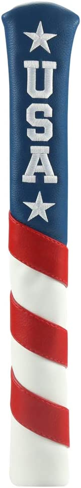 Craftsman Golf Red White Blue USA Star Alignment Stick Cover Case Holder