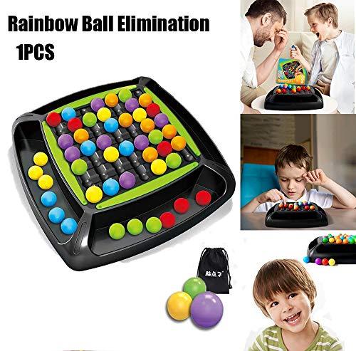 Rainbow Ball Elimination Game Toy, Set de eliminación de Perlas de Colores, Magic Rainbow Ball Puzzle Chess Toy Set…