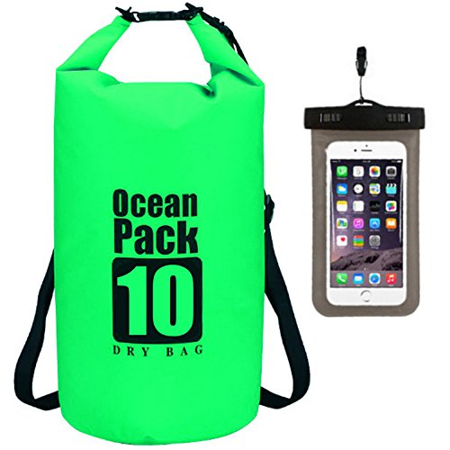 7bbc29d3d0ab Waterproof Dry Bag - Roll Top Dry Compression Sack Keeps Gear Dry for  Kayaking