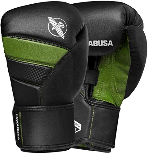 Hayabusa T3 Boxing Gloves | Men and Women | Black/Green |16oz | Bag Gloves