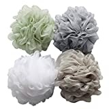 Beauty : Bath Shower Sponge Loofahs (60g/pcs) Mesh Pouf Shower Ball, Mesh Bath and Shower Sponge Pack of 4