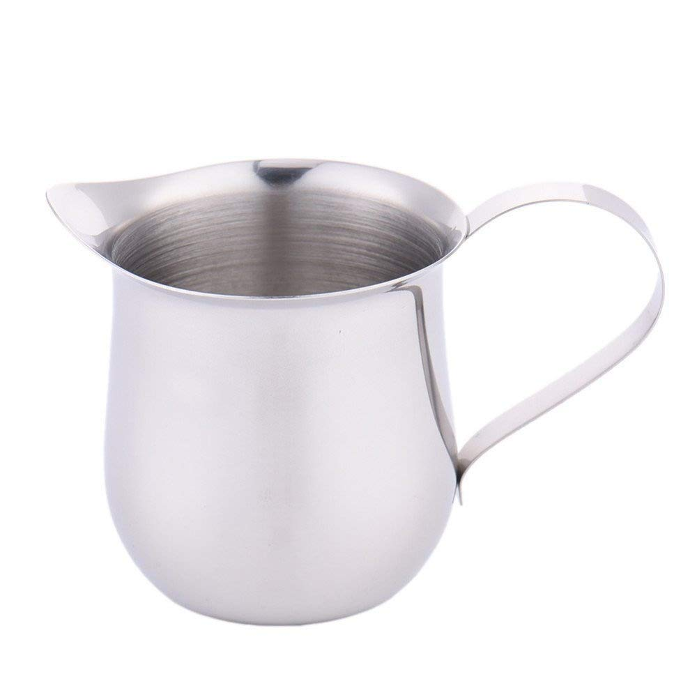 (5oz/150ml) - Lautechco Stainless Steel Coffee Shop Espresso Milk Latte Art Frothing Jug Cup Jar 60ml 90ml 150ml 24 0ml (5oz/150ml)   B06XPYVG9G