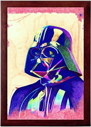 Art of Kyle Willis Bic Sith - Star Wars Darth Vader Ballpoint Pen Illustration Framed 13x19 ()