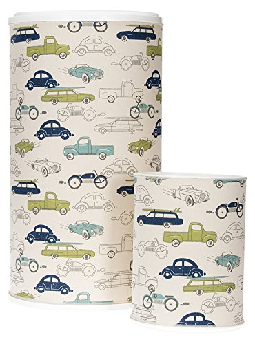 Glenna Jean Hamper and Waste Basket, Uptown Traffic Car Print by Glenna Jean