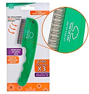 Triple Row Lice Comb Patent Highly Effective in Removing Lice and Nits by Tree of Life