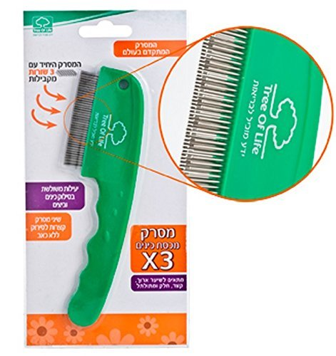 (Triple Row Lice Comb Patent Highly Effective in Removing Lice and Nits by Life Tree)