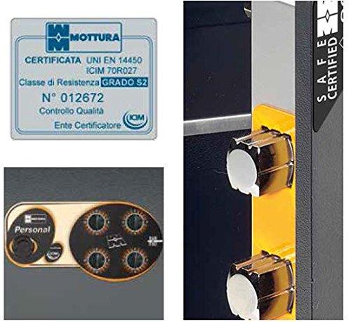 MOTTURA Cassaforte a murare chiusura con combinazione meccanica